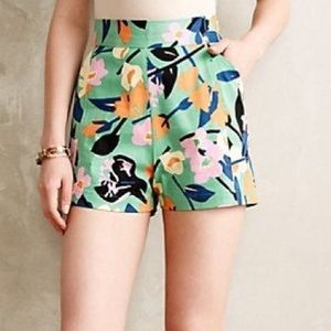 Anthropologie Whit Two High Waist Floral Shorts